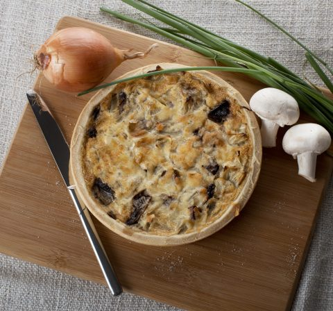 Mushroom Onion Quiche